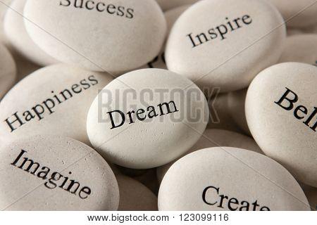 Inspirational stones - Dream