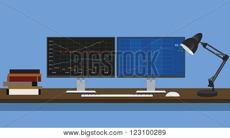 learning stock basic for growth business vector