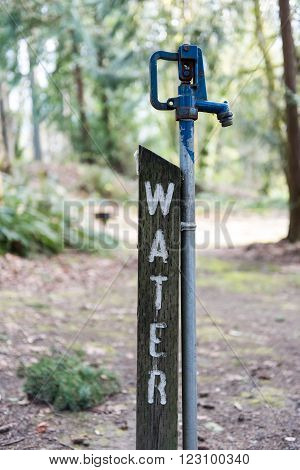 Potable water for consumption at a state park