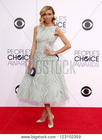 Giuliana Rancic at the 41st Annual People's Choice Awards held at the Nokia L.A. Live Theatre in Los Angeles on January 7, 2015.
