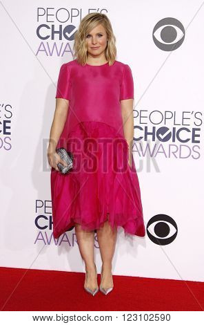 Kristen Bell at the 41st Annual People's Choice Awards held at the Nokia L.A. Live Theatre in Los Angeles on January 7, 2015.