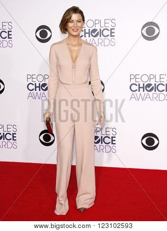 Ellen Pompeo at the 41st Annual People's Choice Awards held at the Nokia L.A. Live Theatre in Los Angeles on January 7, 2015.