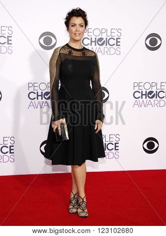 Bellamy Young at the 41st Annual People's Choice Awards held at the Nokia L.A. Live Theatre in Los Angeles on January 7, 2015.