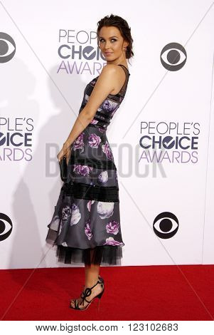 Camilla Luddington at the 41st Annual People's Choice Awards held at the Nokia L.A. Live Theatre in Los Angeles on January 7, 2015.