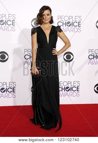 Cote de Pablo at the 41st Annual People's Choice Awards held at the Nokia L.A. Live Theatre in Los Angeles on January 7, 2015.