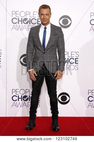 Joey Lawrence at the 41st Annual People's Choice Awards held at the Nokia L.A. Live Theatre in Los Angeles on January 7, 2015.
