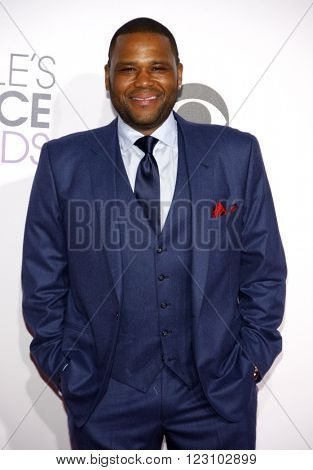 Anthony Anderson at the 41st Annual People's Choice Awards held at the Nokia L.A. Live Theatre in Los Angeles on January 7, 2015.