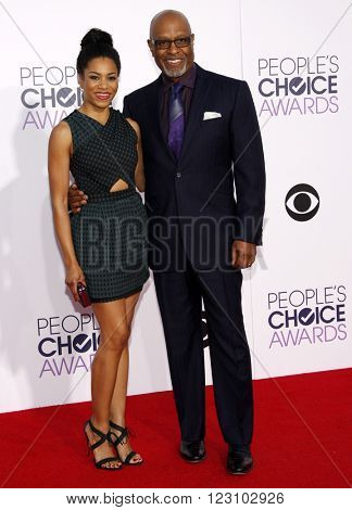 Kelly McCreary and James Pickens Jr. at the 41st Annual People's Choice Awards held at the Nokia L.A. Live Theatre in Los Angeles on January 7, 2015.