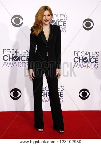 Bella Thorne at the 41st Annual People's Choice Awards held at the Nokia L.A. Live Theatre in Los Angeles on January 7, 2015.