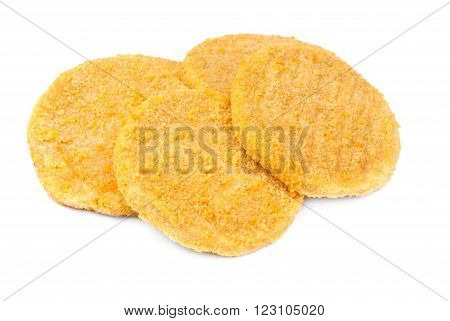some fish burgers isolated on white background