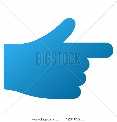 Hand Index Pointer vector toolbar icon. Style is gradient icon symbol on a white background.