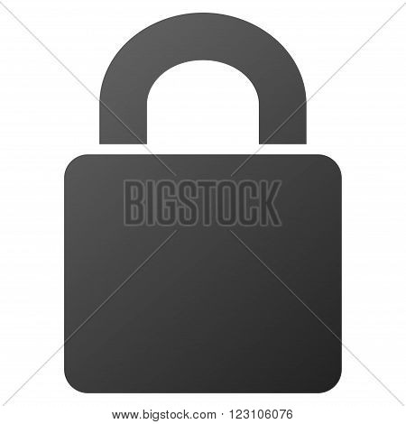 Lock vector toolbar icon. Style is gradient icon symbol on a white background.