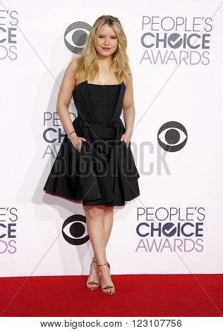 Taylor Spreitler at the 41st Annual People's Choice Awards held at the Nokia L.A. Live Theatre in Los Angeles on January 7, 2015.
