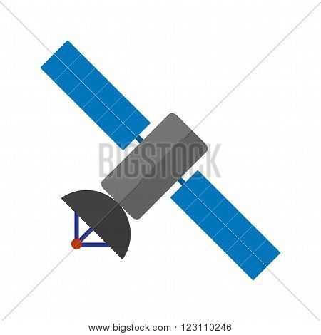 Satellite, space, earth icon vector image.Can also be used for astronomy. Suitable for use on web apps, mobile apps and print media.