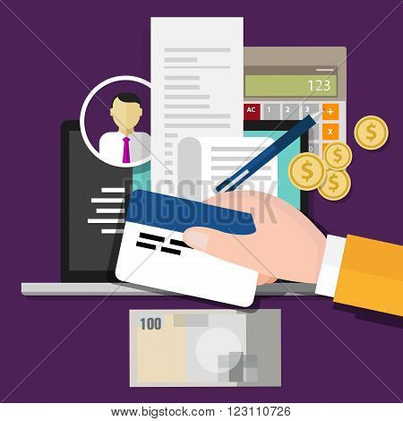 tax id card payment identification number vector illustration