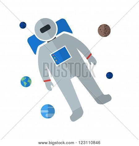 Space, astronaut, spaceman icon vector image.Can also be used for astronomy. Suitable for use on web apps, mobile apps and print media.