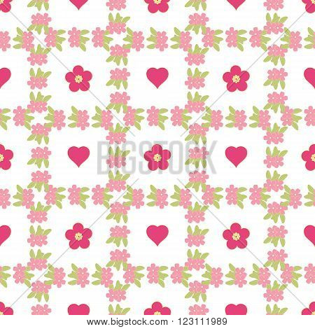 Cute floral background, vector pattern with forget-me-not flowers. Seamless vector floral pattern for cushion, pillow, bandanna, silk kerchief or shawl fabric print. Texture for clothes, bedclothes