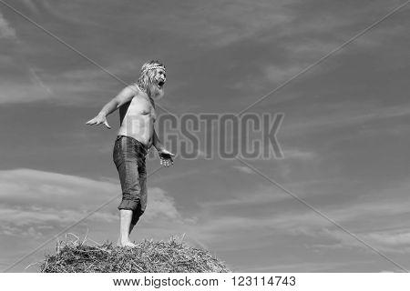 Man On A Haystack