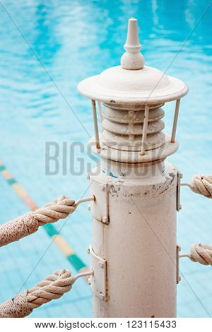 Swimming Pool Details Background with Blue Clear Water