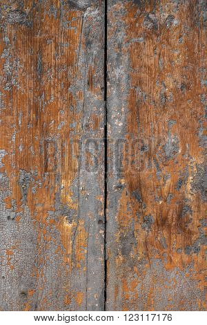 Wooden background painted in vintage style. Rough and scratchy texture.