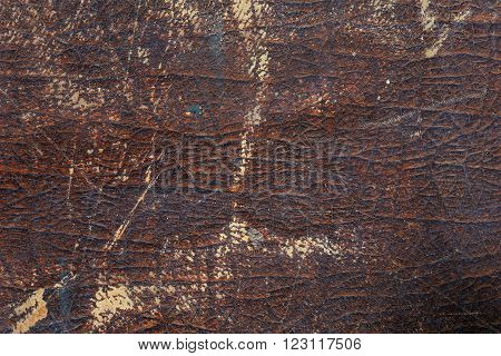 Texture Of Old Worn Leather