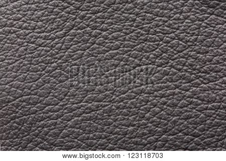 Dark gray genuine leather material texture