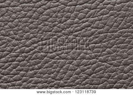 Dark gray genuine leather texture background