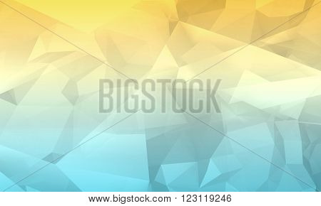 Colorful Digital 3D Chaotic Polygonal Background