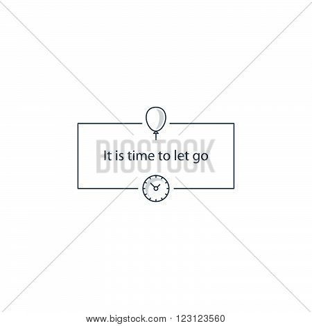 It is time to let go, linear design illustration