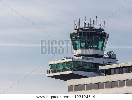Schiphol Airport North Holland/the Netherlands - March 10 2016: airport control tower