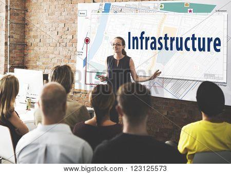 Infrastructure City Plan Design Location Concept