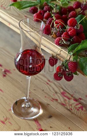 Raspberry Wine And Berries