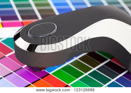 Press color management chart swatch densitometer calibration
