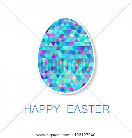 Happy Easter greeting card. Easter egg. Vector illustration.  Easter egg isolated vector. Easter egg for Easter holidays design.