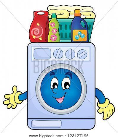 Washing machine theme image 2 - eps10 vector illustration.