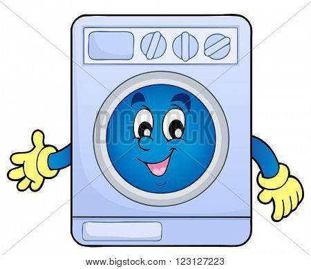 Washing machine theme image 1 - eps10 vector illustration.