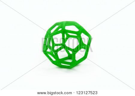 3D Printed Sphere Shaped Object Isolated On White Background