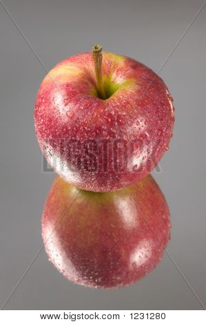 Red Apple Reflected