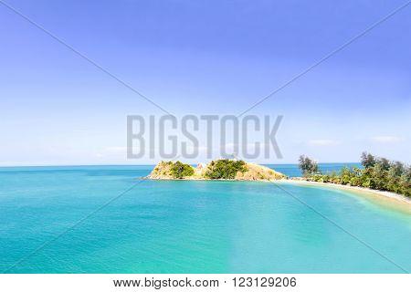 Sea and blue sky, Andaman Sea, koh lanta, krabi, Thailand