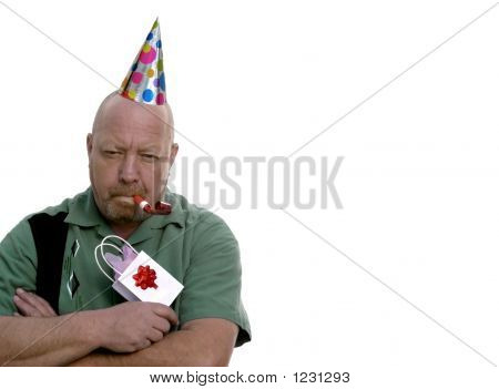 Grumpy Birthday Man