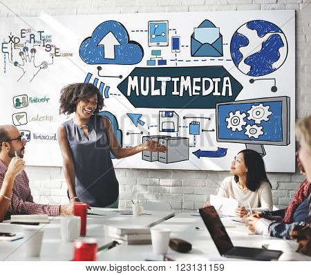 Multimedia Media Video Application Entertainment Concept