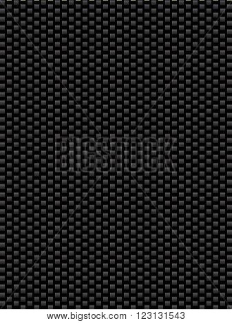 Black texture synthetic fiber geometric seamless background vector