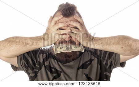 Portrait Of A Man With Money