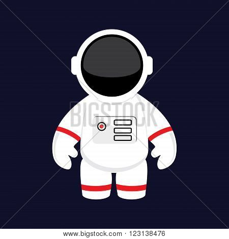 Vector illustration cartoon astronaut cosmonaut in space. Space suit. Astronaut flat icon