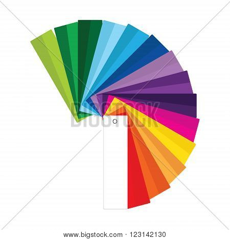 Vector illustration of colour guide. Color swatches. Color palette. Colorful swatches book