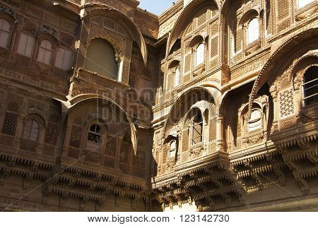 Mehrangarh fort, Rajasthan, Jodhpur, India - fine work