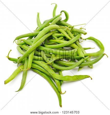 pea pods isolated on a white