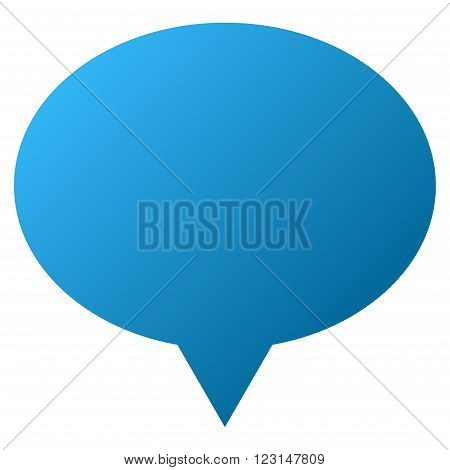 Hint Balloon vector toolbar icon for software design. Style is gradient icon symbol on a white background.