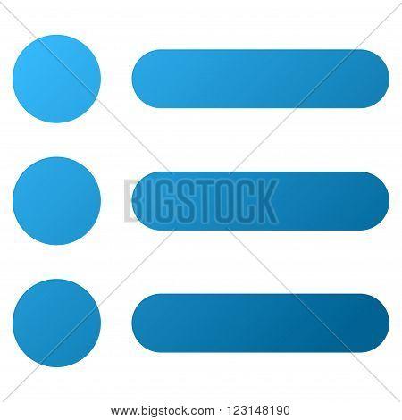 Items vector toolbar icon for software design. Style is gradient icon symbol on a white background.