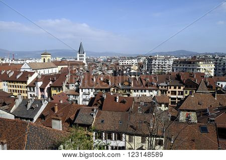 City Of Annecy, In Savoy, France
